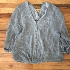 Oversized brandy Melville button down top